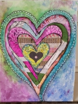 finished Layers of my Heart project